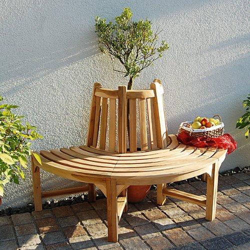 Baumbank Aus Holz Baumbank Holz Baumbank Teak Sitzbank Rundbank Halbrund  Rund Gartenbank