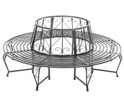 baumbank metall rundbank vorstellung neu. Black Bedroom Furniture Sets. Home Design Ideas